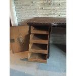 Image of Antique Dark Wood Desk
