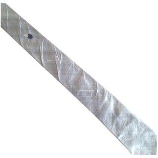 Vintage 1950s Silk Gray Silver Skinny  Tie