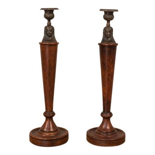Sarreid Ltd Iron Candlesticks- a Pair