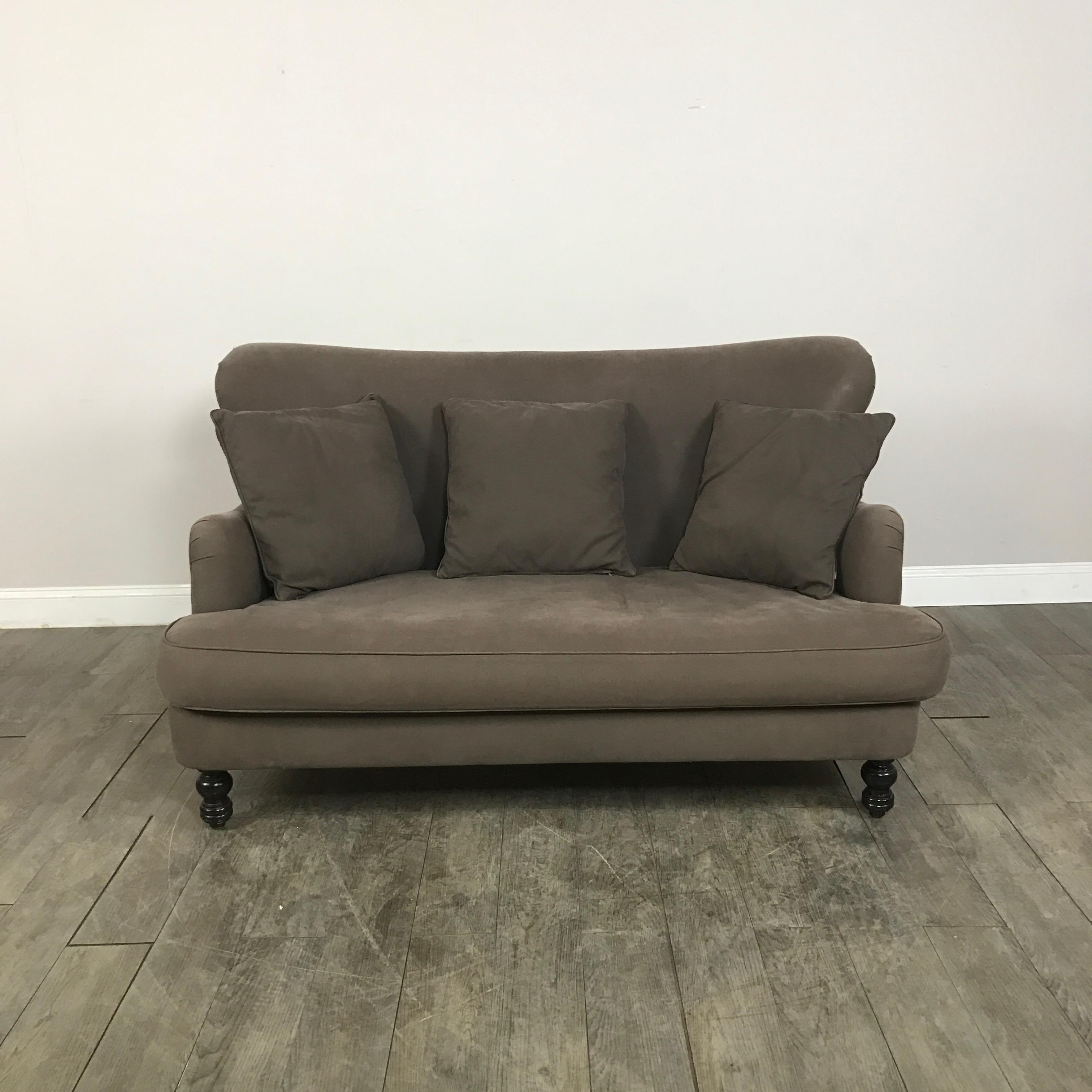 cisco brothers curved loveseat sofa chairish