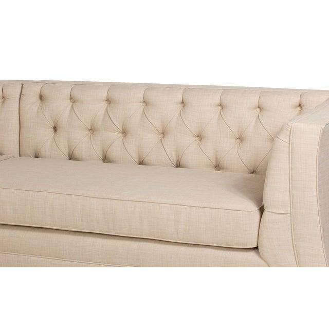 Mid century style sectional sofa casanova beige chairish for Sofa 3 cuerpos casanova austin