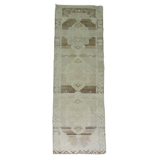 Vintage Turkish Oushak Runner - 3'7'' X 15'10''