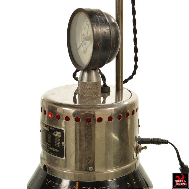Industrial Table Lamp with LED Lighting and Clock - Image 9 of 10