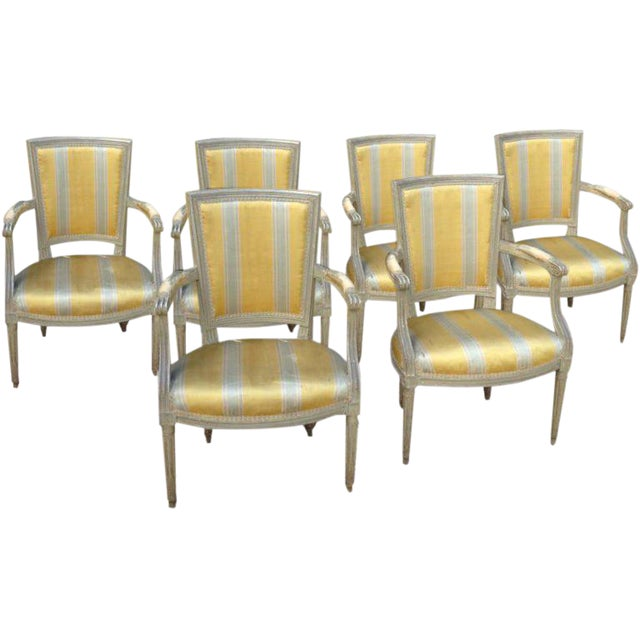 Six French Armchairs - Image 1 of 10