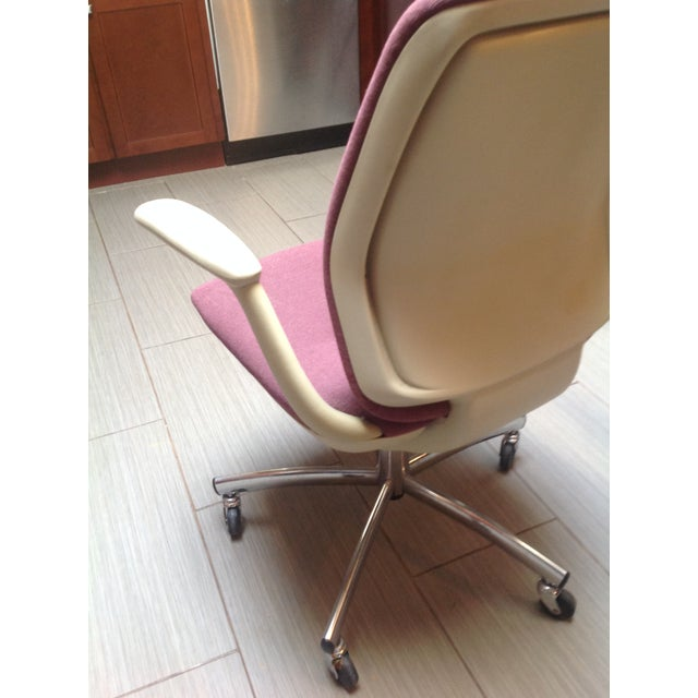 Mid-Century Steelcase Chrome Office Chair - Image 7 of 9