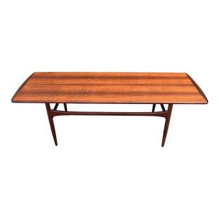 Vintage Tove & Edvard Kindt-Larsen Danish Modern Rosewood Coffee Table