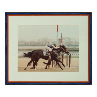 Aqueduct Park Finish Line Color Photo in Custom Racing Stripe Frame