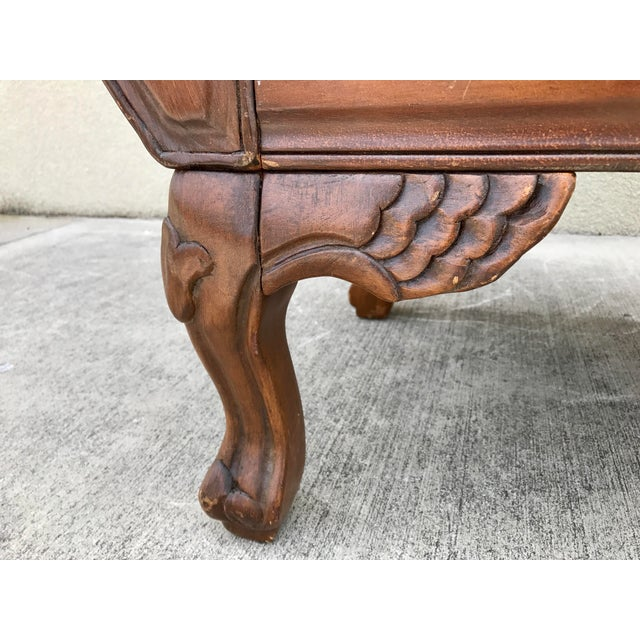 Antique Carved Wood Chaise - Image 10 of 10