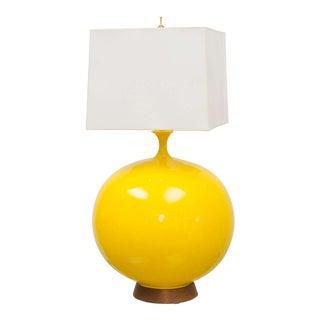 Round Yellow Ceramic Lamp