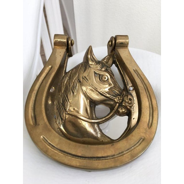 Lucky Horseshoe Brass Door Knocker - Image 4 of 5