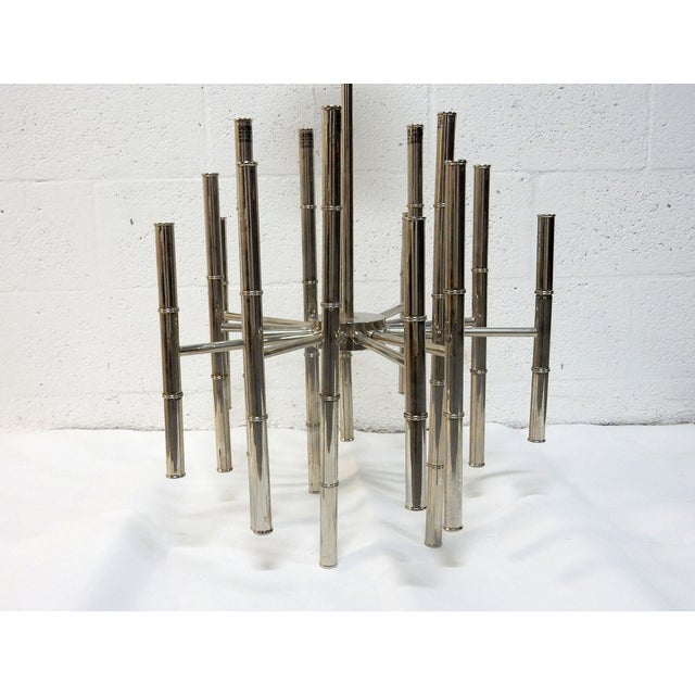 Image of Faux Bamboo Chrome Chandelier