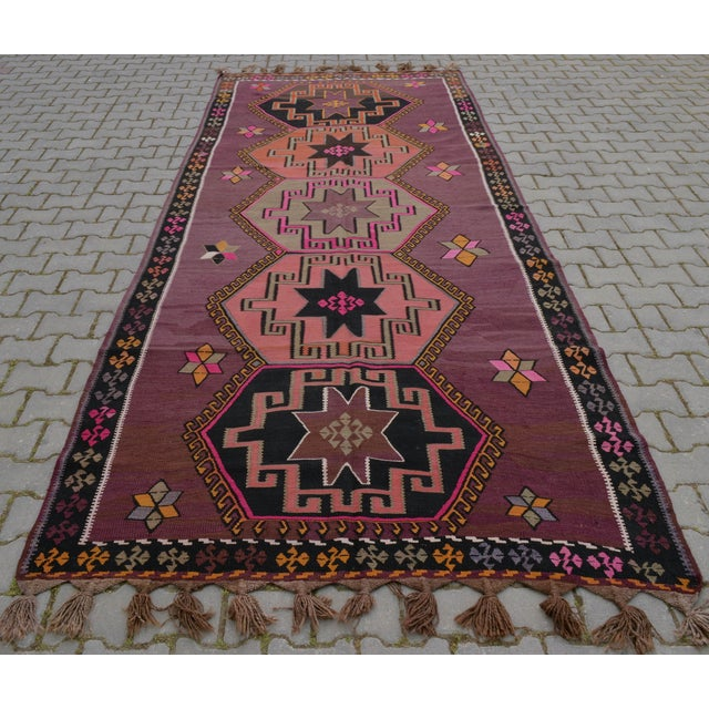 Hand-Woven Turkish Runner - 5′6″ × 13′2″ - Image 6 of 10