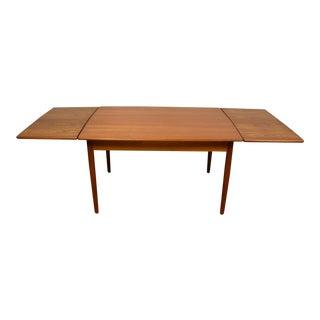 Danish Teak Draw Leaf Dining Table