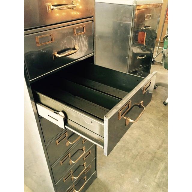 Vintage Polished Modern Metal Steelcase 8-Drawer File Cabinet - Image 7 of 8
