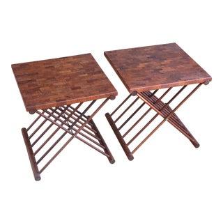 Pair of Teak Side Tables by Ernest Sohn
