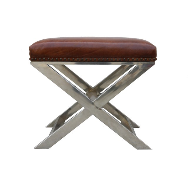 Pasargad Paris Club Leather Bench - Image 3 of 4