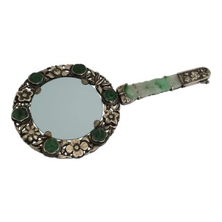Chinese Jade & Silver Magnifier