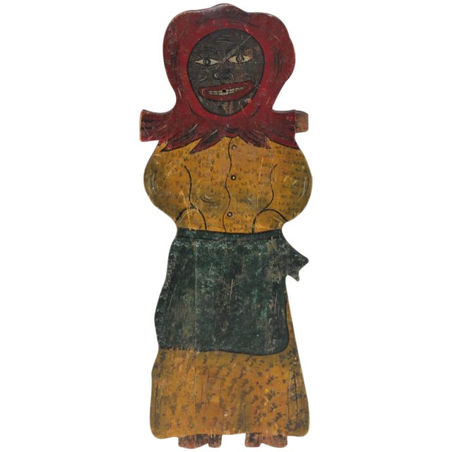 Large Handmade Folk Art Mammy Carnival Art - Image 1 of 5