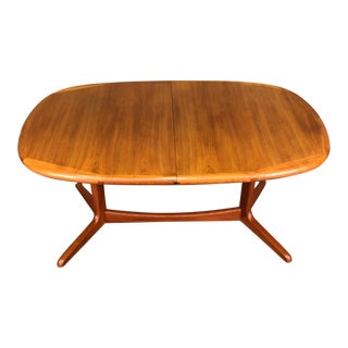 Danish Modern Ansager Møbler Teak Dining Table With 2-Extensions