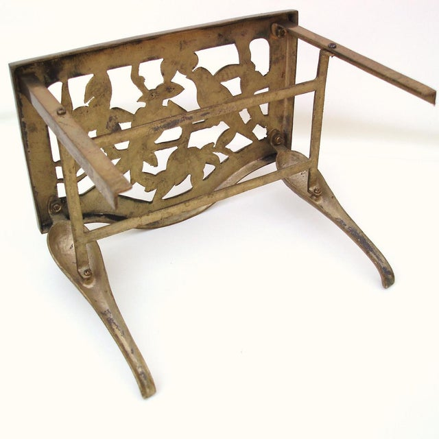Fireplace Stool Hearth Trivet Brass Footman - Image 7 of 8