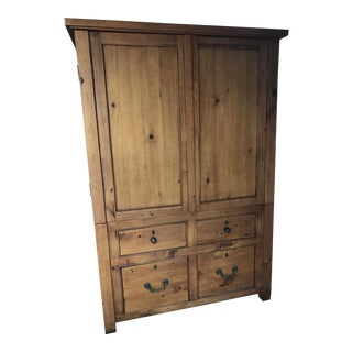 Knotty Pine TV Cabinet Armoire
