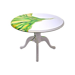 Artistic Hand Painted Round Table