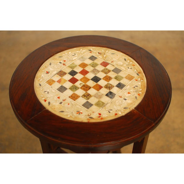 Rosewood Marble Game Table - Image 2 of 5