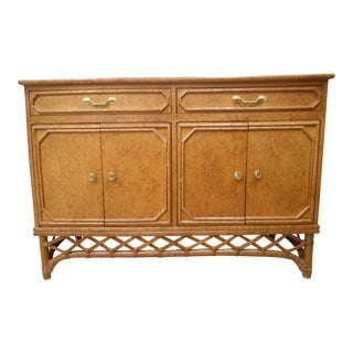 Ficks Reed Bamboo & Wicker Cabinet