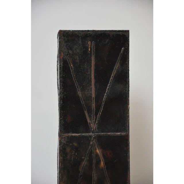 Paul Evans Sculptural Steel Planter Pedestal - Image 7 of 8