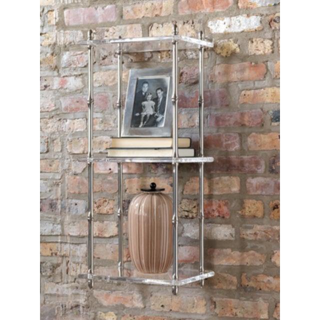 Image of Modern Nickel & Lucite Shelf
