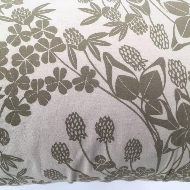 Original Folly Cove Designers Hand Block Printed Clover Pillow - Image 8 of 9