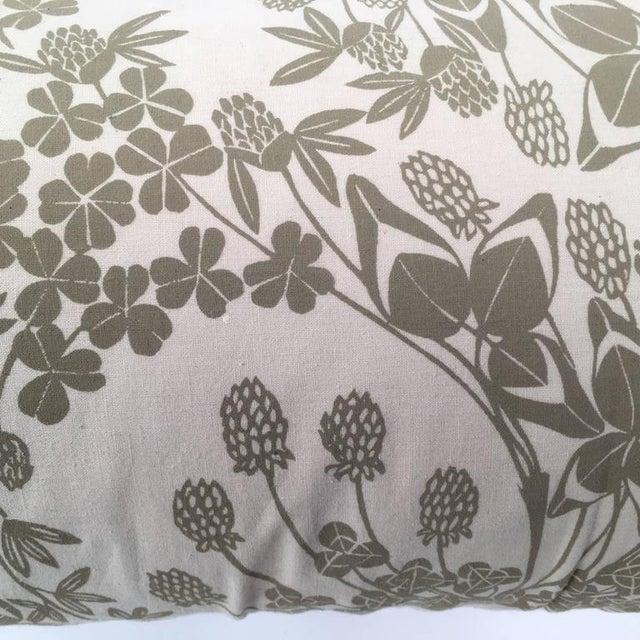 Image of Original Folly Cove Designers Hand Block Printed Clover Pillow