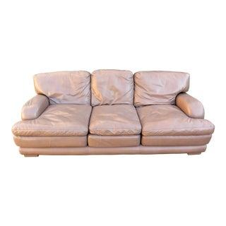 Vintage Hancock & Moore Leather 3 Seat Sofa