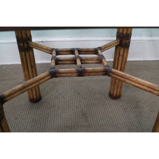 McGuire Rattan Glass Top Dining Table Chairish