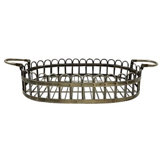 Silver-Plate Scalloped Tray