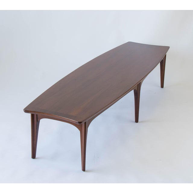 American Walnut & Rosewood Surfboard Coffee Table - Image 6 of 7