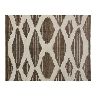 Contemporary Moroccan Rug with Modern Geometric Design, 10'4x13'2