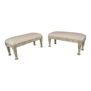 Antique French Empire Style Benches - a Pair