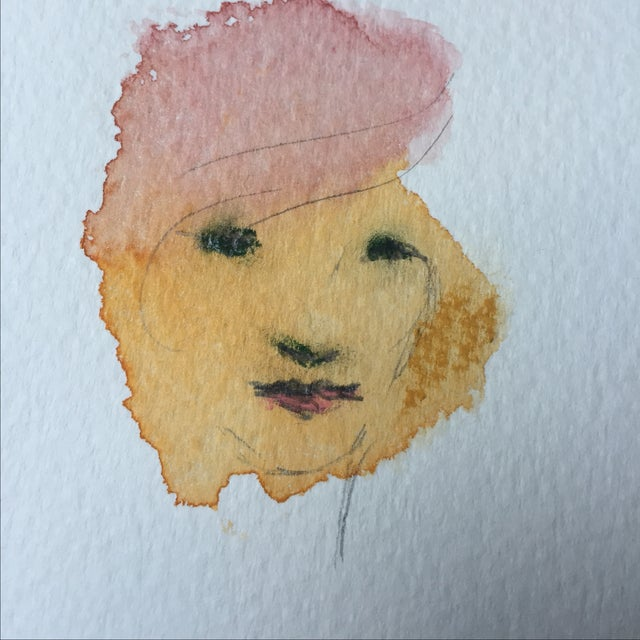 Watercolor Face by Lori Fox - Image 3 of 4