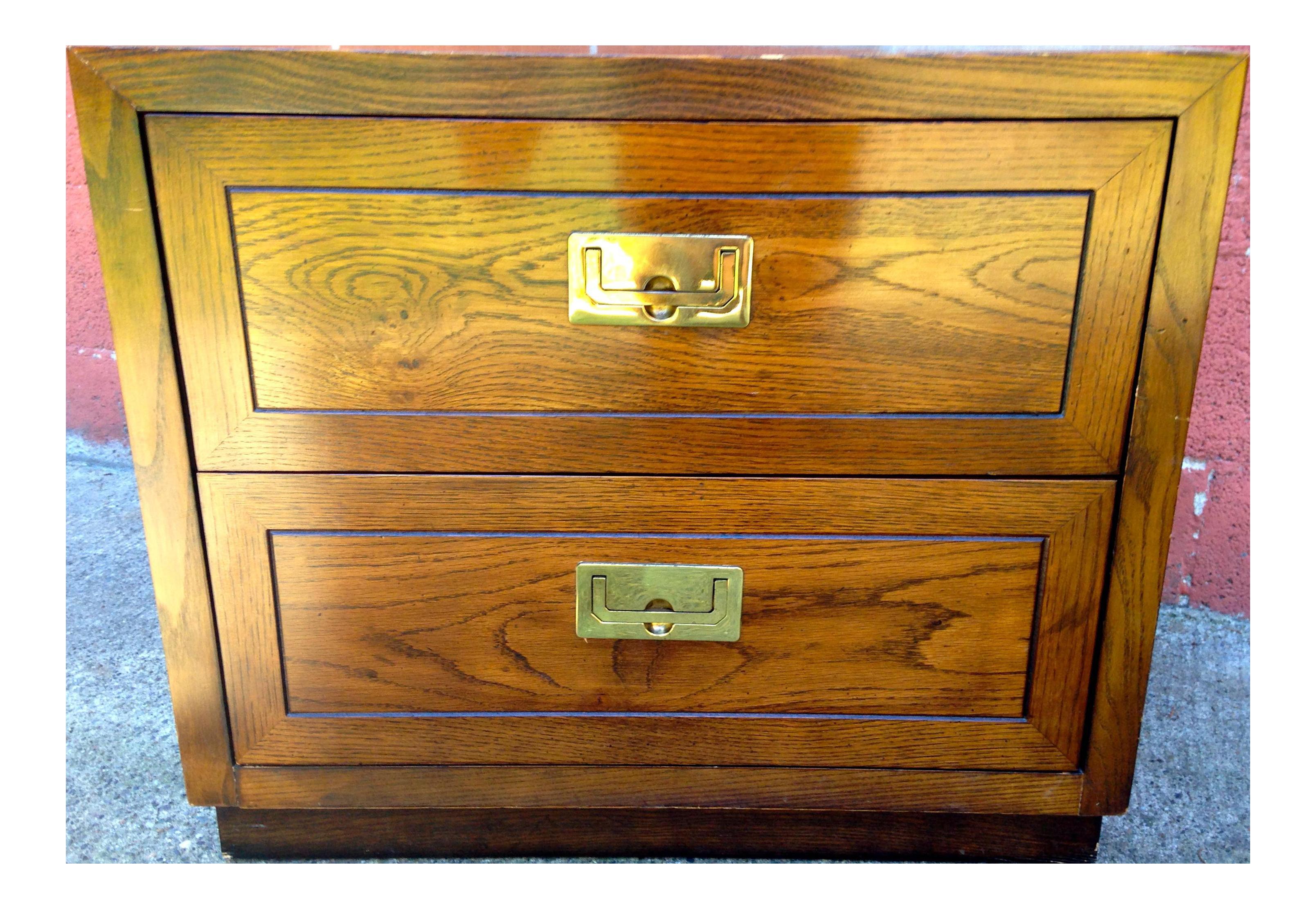 Vintage Henredon Wooden Nightstand
