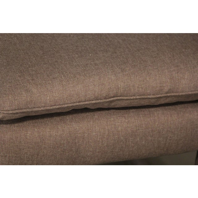 Image of Upholstered Parsons Style Ottomans - Pair