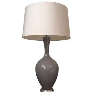 Gray Gloss Table Lamp