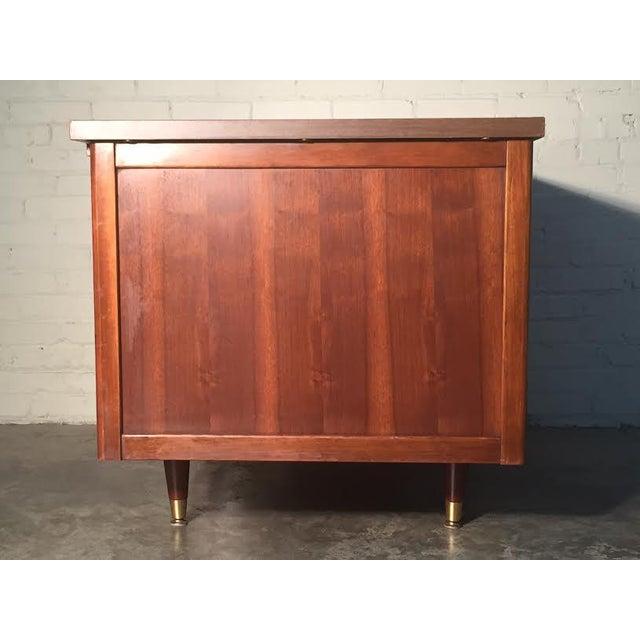 Hoosier Mid-Century Modern Walnut Desk - Image 5 of 10
