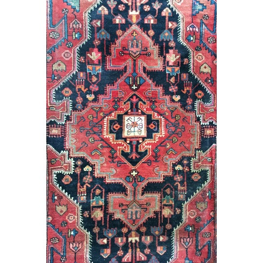 "Vintage Persian Rug - 4'4"" x 7'5"" - Image 4 of 6"