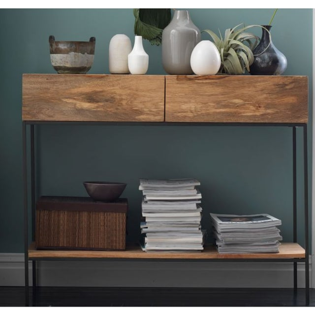 West Elm Rustic Storage Console - Image 5 of 5