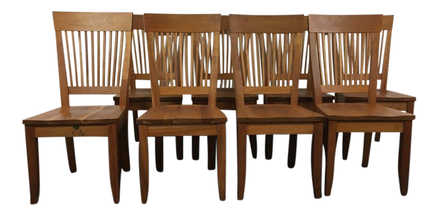 Awesome Borkholder Furniture Amish Carved Wood U0027Heartlandu0027 Side Chairs U0026 Table    Set Of 9