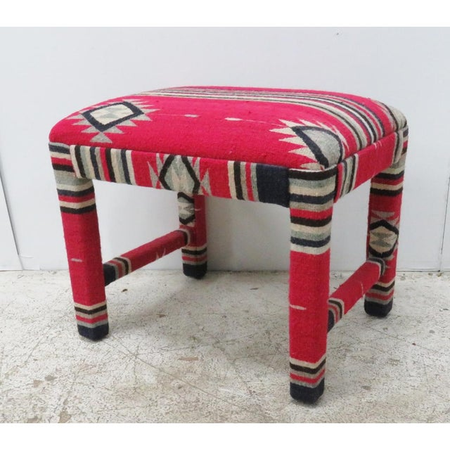 Mid-Century Aztec Parsons Style Stool - Image 4 of 4