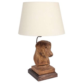 JW Custom Line Carved Dog Lamp