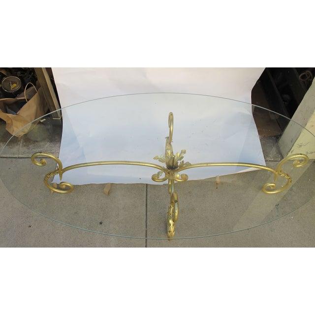 Image of 1960s Italian Wrought Iron Coffee Table
