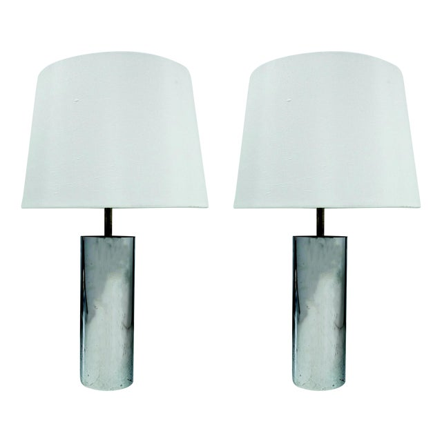 Chrome Tube Lamps by George Kovacs - A Pair - Image 1 of 4